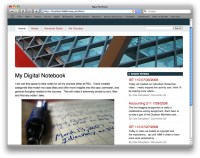 My Digital Notebook: Blog Posts as Daily Note Entry
